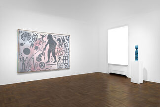 """""""A.R. Penck: Paintings from the 1980s and Memorial to an Unknown East German Soldier"""", installation view"""