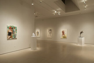 Eric Fischl: Cast & Drawn - the figure in bronze, glass and watercolor, installation view