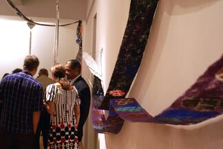 Heads and Tails: Hommage to Merce, solo exhibition by Jackie Matisse, installation view