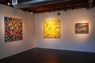 """""""The Shape of Rhythm"""" by Mark Emerson and """"Where"""" by Tom Leaver, installation view"""