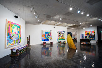 WORK IN PROGRESS - Pose, Cleon Peterson, Sage Vaughn, Richard Colman + more, installation view