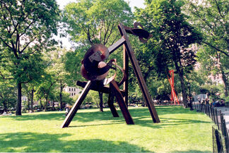 Mark di Suvero: Aesop's Fables, Beyond, Double Tetrahedron, installation view