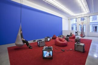 """Alex Bag and Patterson Beckwith - """"Cash from Chaos / Unicorns & Rainbows"""", installation view"""