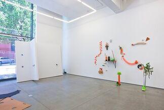 """Alex Da Corte, Josh Kolbo, Justin Matherly, and Dominic Nurre - """"Re: Empire"""", installation view"""