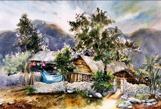 Watercolor Artwork, installation view