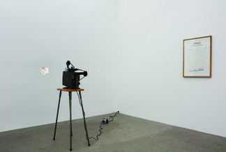 A NONSPATIAL CONTINUUM IN WHICH EVENTS OCCUR IN APPARENTLY IRREVERSIBLE SUCCESSION FROM THE PAST THROUGH THE PRESENT TO THE FUTURE., installation view