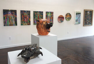 Loved to Death: A retrospective of the works by Maria Alquilar and Creatures from the Fire: Sculpture by Joe Mariscal, installation view