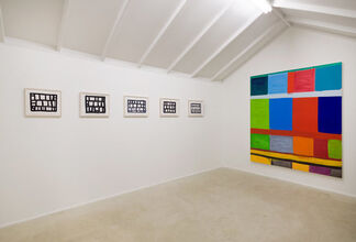 """Stanley Whitney - """"Team Colors"""", installation view"""
