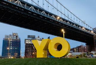 "Deborah Kass ""OY/YO"" at Brooklyn Bridge Park, installation view"
