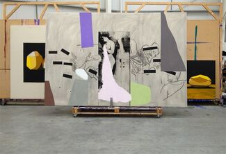 Bruce McLean: Action Sculpture Potato Painting, installation view
