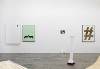 Gabriele De Santis: The dance step of a watermelon while meeting a parrot for the first time, installation view