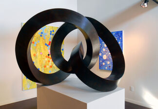 """""""Nots"""" by Roger Berry and """"Numinous"""" by Joan Moment, installation view"""