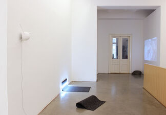 """PAYER GABRIEL + N 48° 11' 47.038"""" O 16° 21' 59.259"""", installation view"""