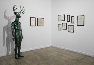 The Five Realms + Tiles, Grates, Poles, Rocks, Plants, and Veggies, installation view