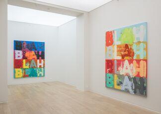 Mel Bochner: BLAH BLAH BLAH, installation view