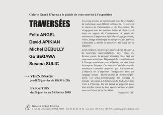 TRAVERSÉES, installation view