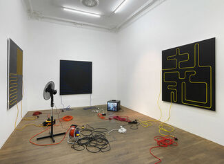 HOW LINES MOVE BEYOND GEOMETRY INTO SPACE, installation view