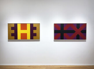 Karl Benjamin: Alphabet Paintings, installation view