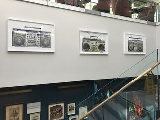 The Boombox Project by Lyle Owerko at Soho House, installation view
