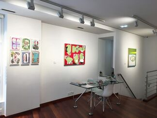 Luis Gordillo Sesión Continua, installation view