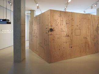 Lombard Freid Gallery: Dan Perjovschi: Back to Back, with Nedko Solakov, installation view