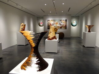 Bud Latven: Deconstructed Turnings, installation view