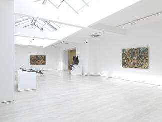 Anthony Caro: 6 Sculptures, Leon Kossoff: 6 Paintings.  Original Proposal for our Booth at Frieze Masters, London, installation view