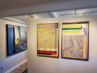 ABSTRACTION, THEN & NOW: Paintings by Jane Eccles, installation view