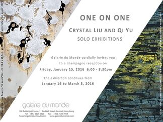 ONE on ONE | Solo Exhibitions by Crystal Liu and Qi Yu, installation view