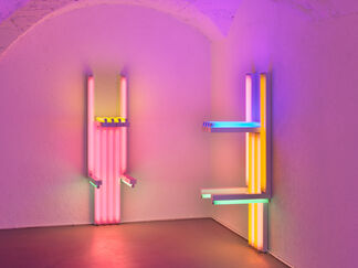 Dan Flavin, to Lucie Rie and Hans Coper, master potters, installation view