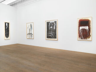 Pat Steir: Waterfall Paintings on Paper, installation view