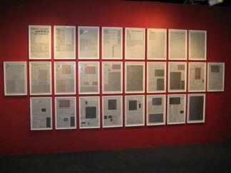 "Kim Rugg ""News / Paper"", installation view"