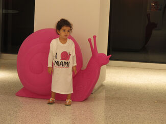Cracking Art Group:  Pink Snails Miami, installation view
