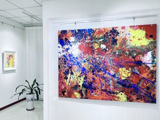 Influence of Externalities:  Feng Xiang-Cheng Abstract Painting Invitation Exhibition, installation view