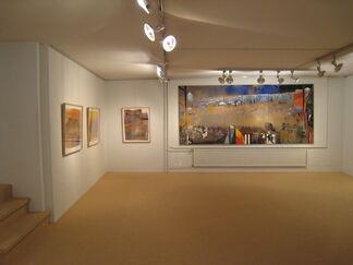 Irving Petlin, recent pastels, installation view