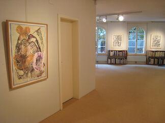 François Rouan - empreintes - éponges - buvards - oeuvres sur papier 1980-2014, installation view