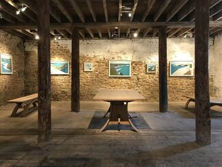 SEA CLIFFS  recent paintings by Vanessa Gardiner with furniture by Petter Southall, installation view