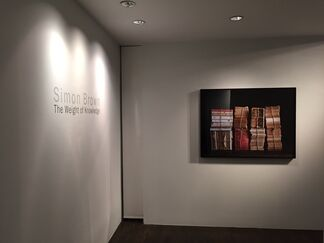 """Simon Brown """"The Weight of Knowledge"""", installation view"""