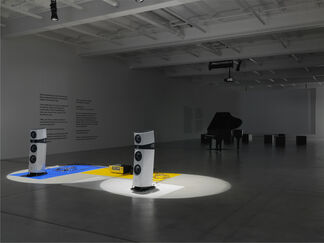 """Liam Gillick """"Extended Soundtrack For A Lost Production Line: Ton und Film"""", installation view"""