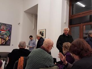 Áron Gábor   Poll   Book launch event and exhibition of works from given period, installation view