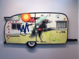 Galerie LeRoyer at urban art fair 2018, installation view