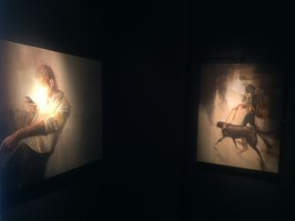 """""""When Worlds Collide"""" Solo Show by Wes 21 / Remo Lienhard, installation view"""