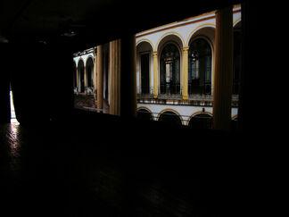 Los rastreadores, installation view