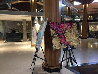 Roshanak Khalilian on show at Le Meridiene Airport in Dubai, installation view