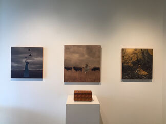 """Michael Dwyer - """"Obsessed"""" and Brooke Golightly - """"If I Tell You"""", installation view"""