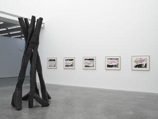 Georg Baselitz Wir fahren aus (We're off), installation view