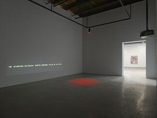 Mark Bradford. Be Strong Boquan, installation view
