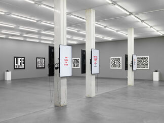JOHN GIORNO, Space Forgets You, installation view