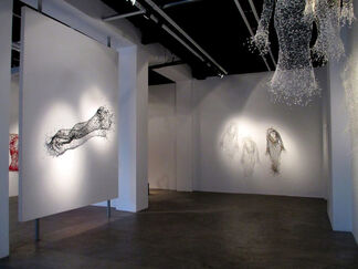 Wire and Light: An Exhibition of Sculptures by KeySook Geum, installation view