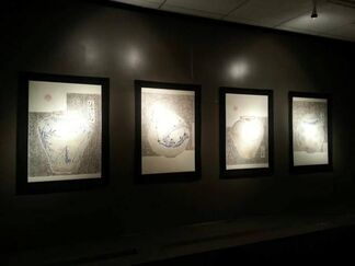Cave of Light: The Paintings of Park Dae-Sung, installation view